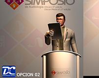 Diseño escenario para congreso Oticon