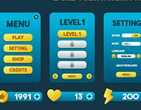 Game UI Design : Blue