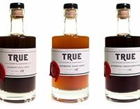 Bar Glass Illustrations for True Syrups & Garnishes