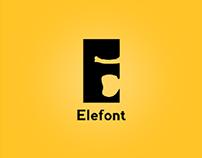 Elefont - Negative Space Logo