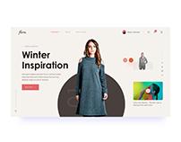 Fashion Header Slider Concept