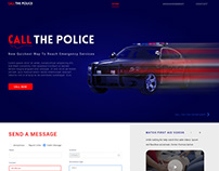 call the police( landing page) ui/ux practice