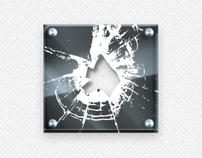 Broken glass (assets sets #2) for mobile game.