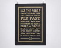 Dont anger the wookiee - Pen drawn poster - Star Wars