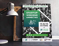 Startup Weekend Annecy poster
