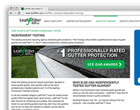 LeafFilter.com Redesign