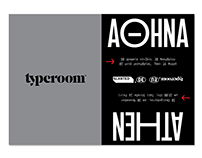 typeroom x slanted Poster Series