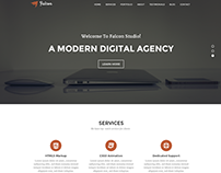 Falcon - One Page Agency PSD Template