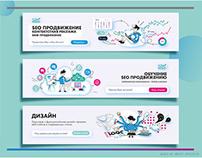Creative banner for Seo company web site