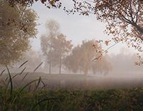 Foggy Lake - CGI Vegetation