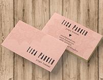 Mandala Pink business card