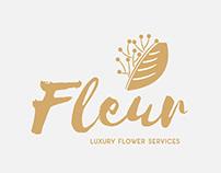 Fleur Luxury Flower Services brandig, logo, web design