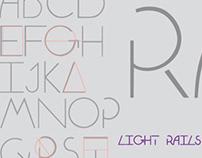 Light Rails Font