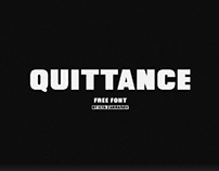QUITTANCE - FREE BOLD DISPLAY FONT