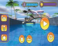 Cartoonish game UI