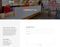 Contact - Sport WordPress Theme