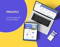 PROOFLY | Social Proof Widget | Landing Page & Account