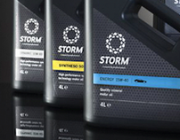 Storm Motor Oil Visual Identity