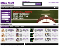 Dream Seats: Website Design