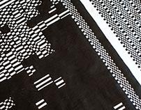 Pixels Silk Painting