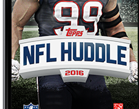 Topps NFL Huddle — 2015/2016 Redesign