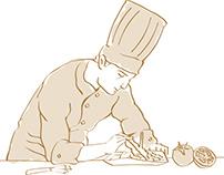 Desenhos de Cozinheiros