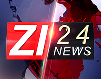Zi24 News Channel Branding