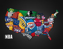 NBA Teams Map