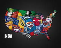 NBA Teams Map