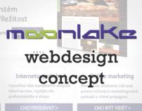 Moonlake.cz webdesign concept