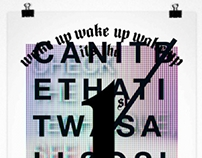 typogRAPhy — Rap quote posters
