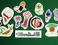 Green Pencil Sticker set