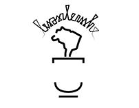 set of logotypes for caffe brasileirinho