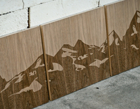 Wooden Mountain Range Triptic