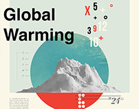 Vintage poster about global warming