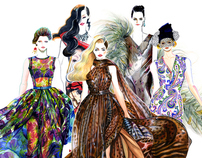 Spring Summer RTW 2012 Runway Illustrated