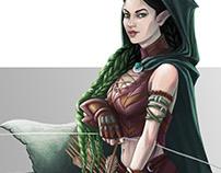 Elf Rogue Character Illustration
