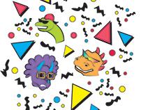 90's Dino Seamless Pattern
