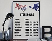 Horario para Postal Services Today