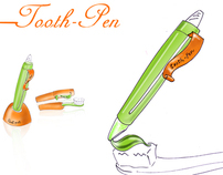 toothpast packaging system {tooth-pen}