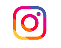 Instagram icon - Flat color