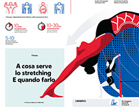 La Repubblica_infographic: Stretching, what does it do