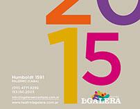 Teatro La Galera. Diseño editorial Catálogo 2015
