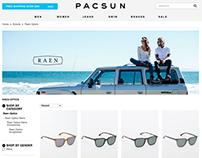 PacSun Web Banners for Raen Optics