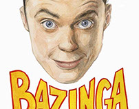 Sheldon Cooper illustration/ Bazinga :)