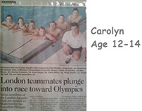 Carolyn's Tween/Early Teen Swimming early to mid 1990s