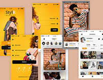 StylR app UI/UX design and prototyping.