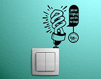 Save energy: Wall Decal Stickers