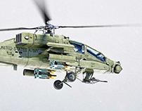 Boeing AH-64 Apache - Photorealistic 3D Render