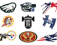 Star Wars - NFL - Logo Mashups (All 32 Teams)